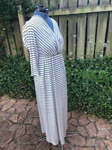 Black and Ivory Striped Dress
