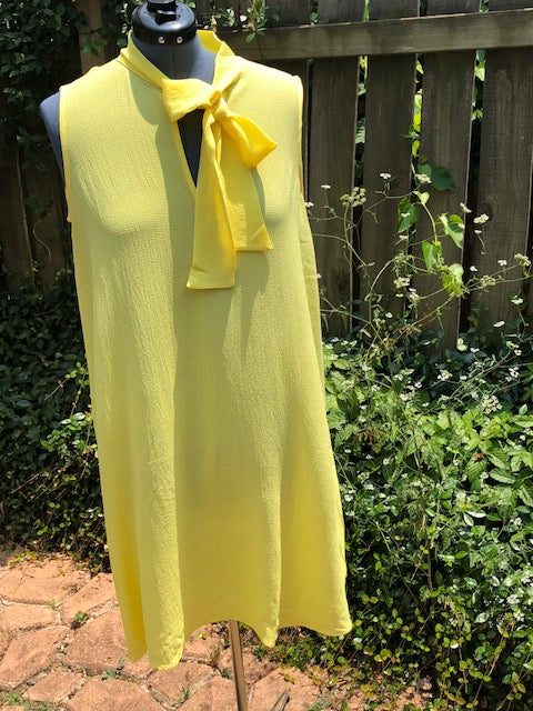 Yellow Bow Tie Dress