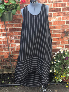 Black/white Hi Low Dress