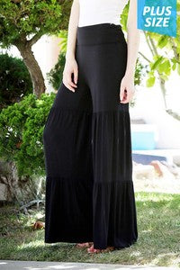 Black Tiered Pants
