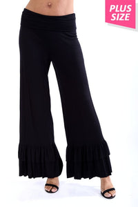 Black Ruffled Pants