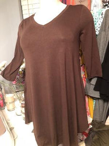 Cigar Brown Tunic Top