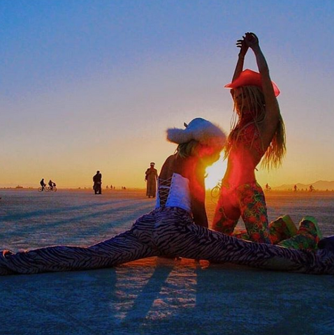 Neon Cowboys Burning Man Chloe Chloshow Space Cowgirl