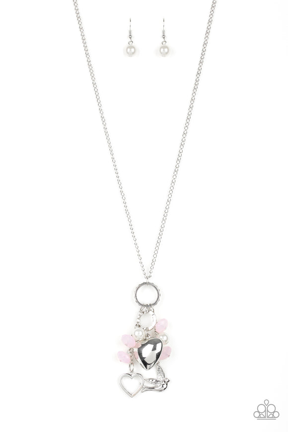 I Will Fly Pink Necklace - Paparazzi Accessories