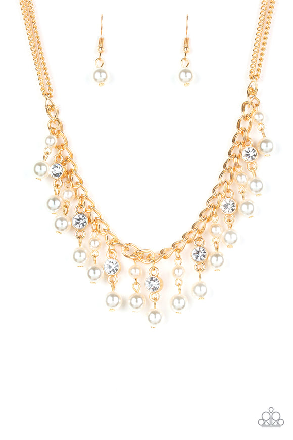 Regal Refinement Gold Necklace - Paparazzi Accessories - jazzy-jewels-gems
