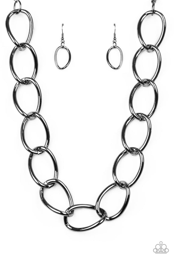 The Challenger Black Necklace - Paparazzi Accessories