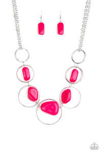 Travel Log Pink Necklace - Paparazzi Accessories