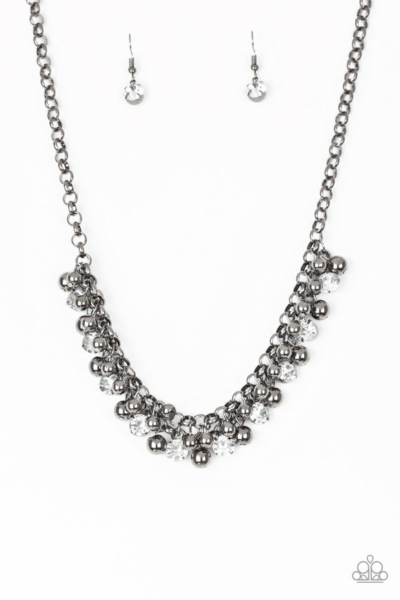 Wall Street Winner Black Necklace - Paparazzi Accessories