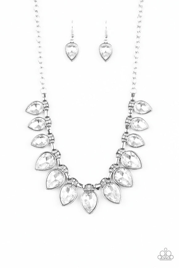 FEARLESS is More White Necklace - Paparazzi Accessories