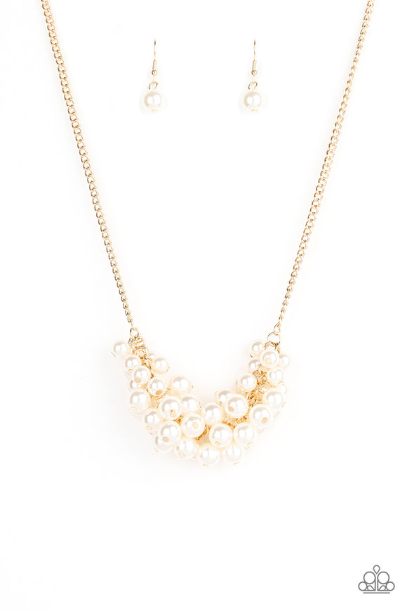 Grandiose Glimmer Gold Necklace - Paparazzi Accessories