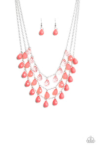Melting Ice Caps Pink Necklace - Paparazzi Accessories