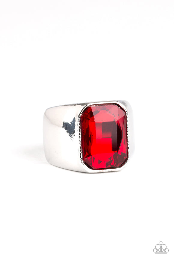 Scholar Red Urban Ring - Paparazzi Accessories