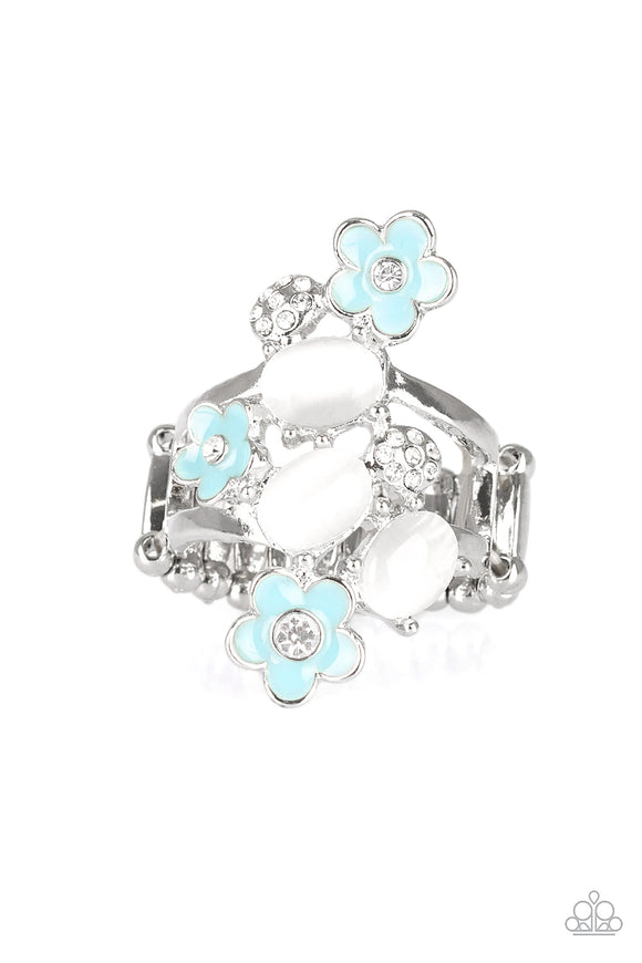 Daisy Delight Blue Moonstone Ring - Paparazzi Accessories