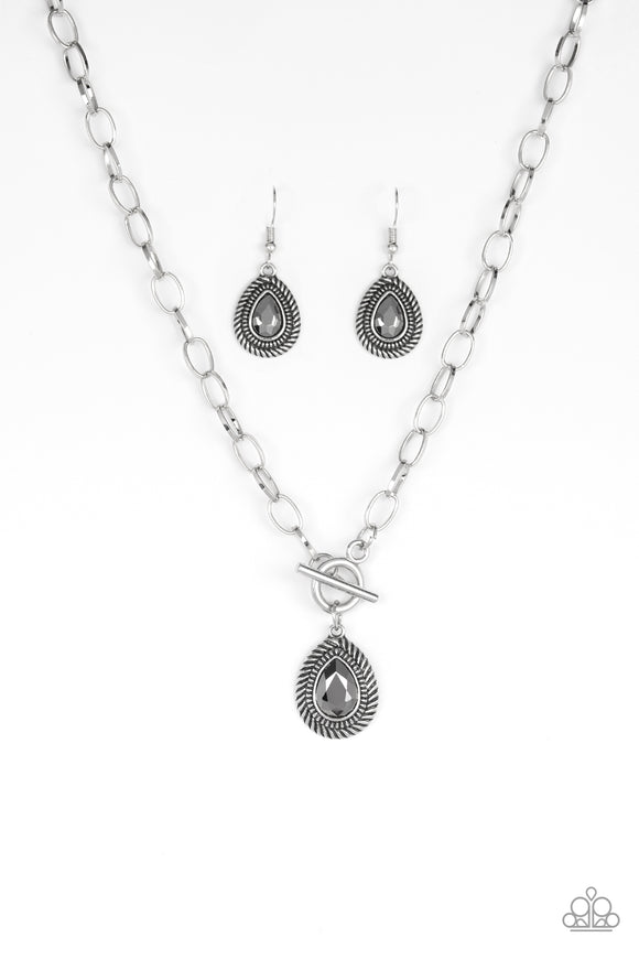 Sheen Queen Silver Necklace - Paparazzi Accessories