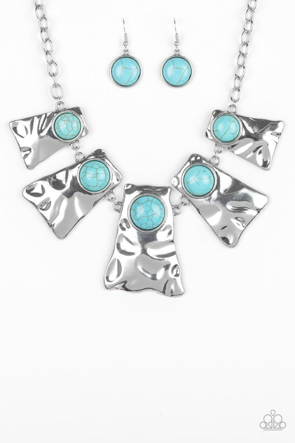 Cougar Blue Necklace - Paparazzi Accessories - jazzy-jewels-gems