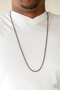 Cadet Casual Black Urban Necklace - Paparazzi Accessories - jazzy-jewels-gems