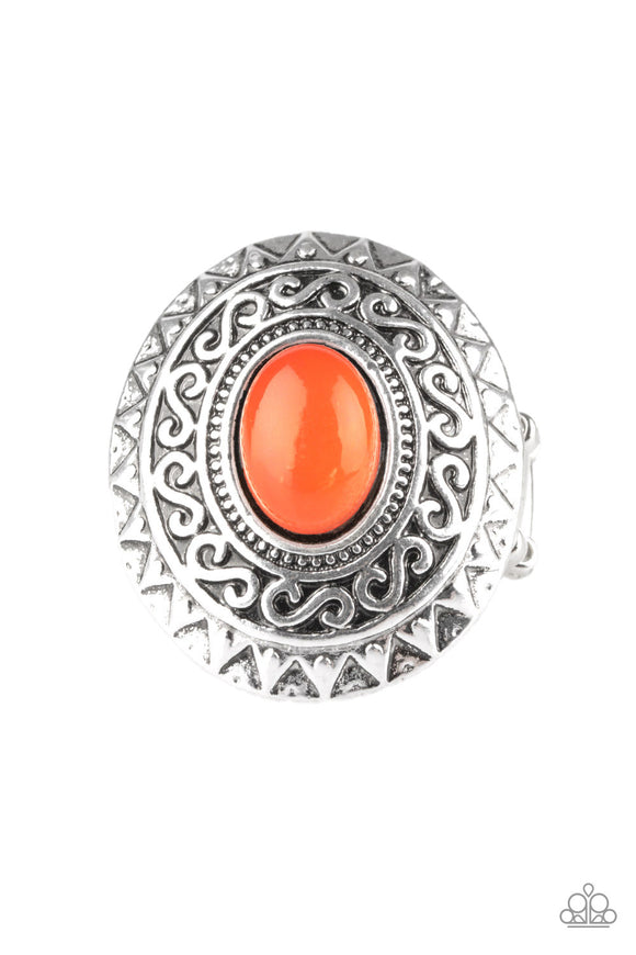 Hello, Sunshine Orange Ring - Paparazzi Accessories
