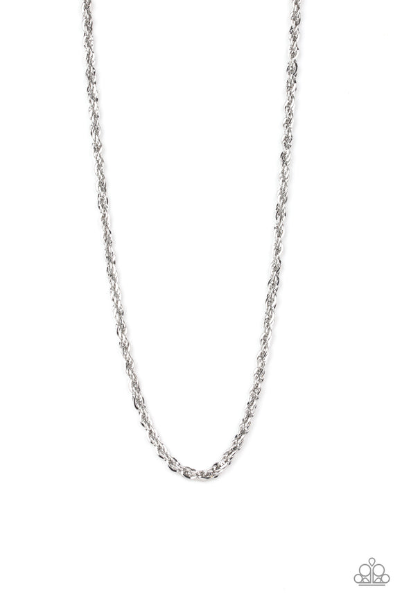 Instant Replay Silver Urban Necklace - Paparazzi Accessories - jazzy-jewels-gems