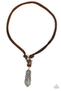 That QUILL Be The Day Brown Urban Necklace - Paparazzi Accessories