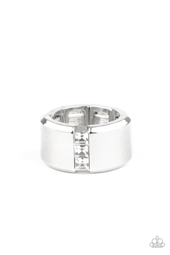 The Graduate White Urban Ring - Paparazzi Accessories