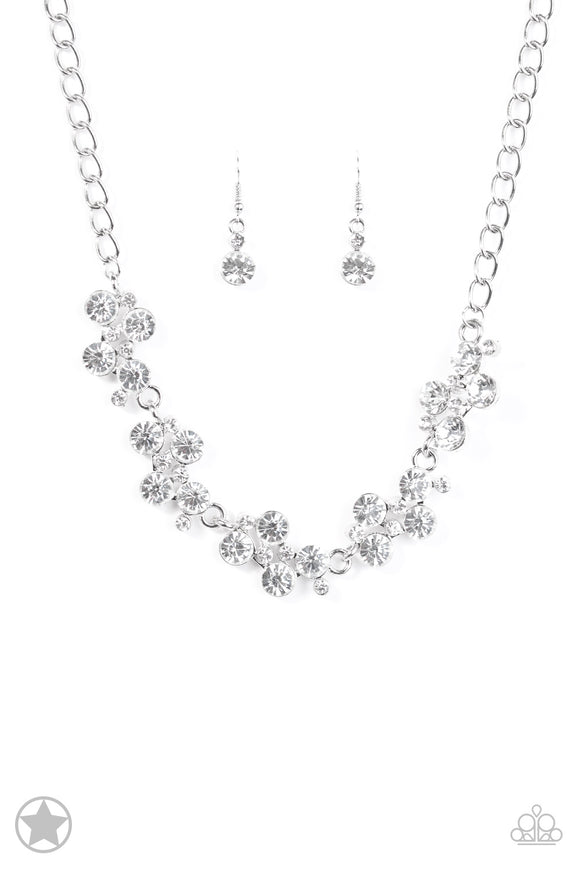 Hollywood Hills Silver Blockbuster Necklace - Paparazzi Accessories - jazzy-jewels-gems