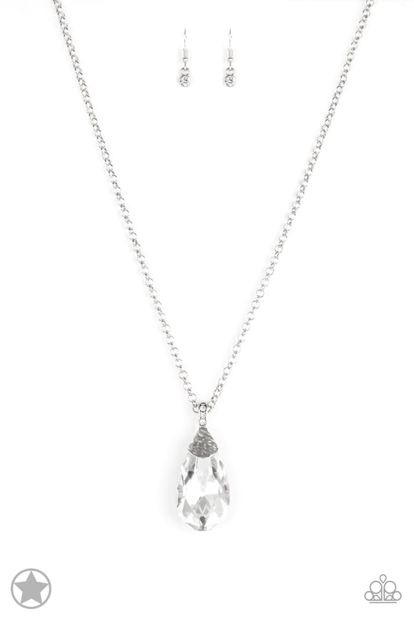 Spellbinding Sparkle White Blockbuster Necklace - Paparazzi Accessories