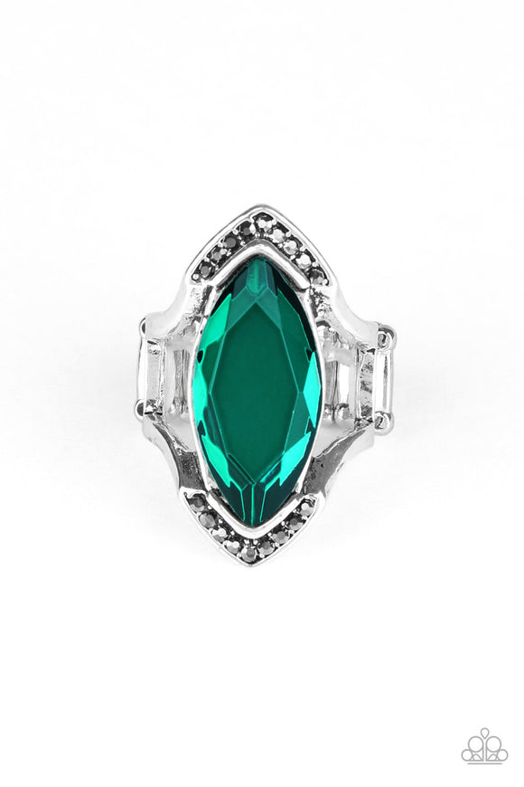Leading Luster Green Ring - Paparazzi Accessories