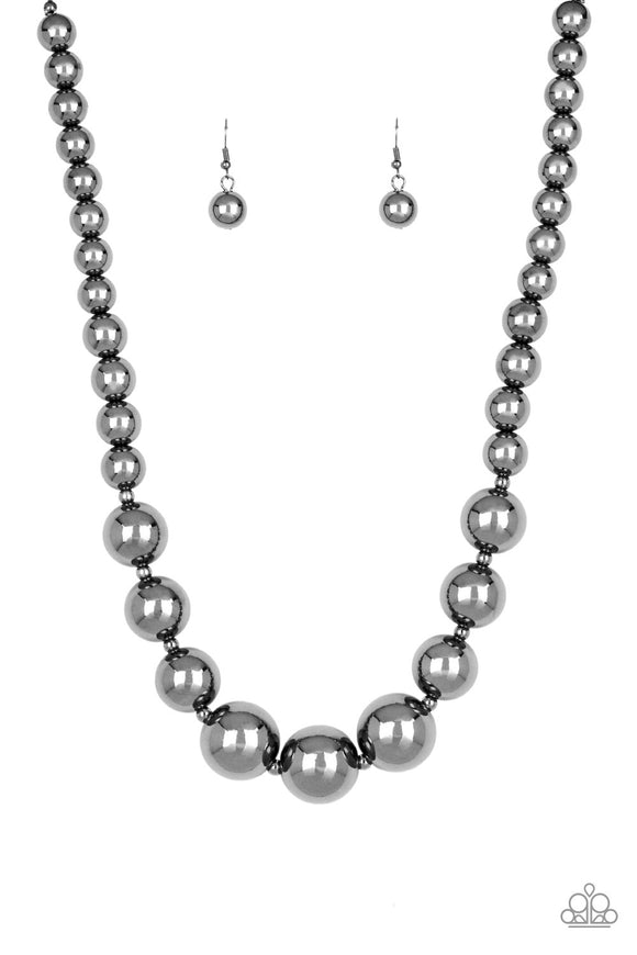 Living Up To Reputation Black Necklace - Paparazzi Accessories
