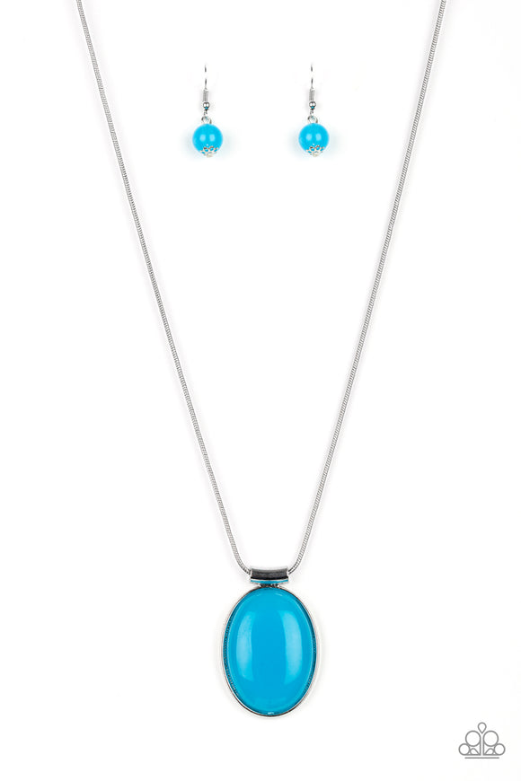 Rising Stardom Blue Necklace - Paparazzi Accessories