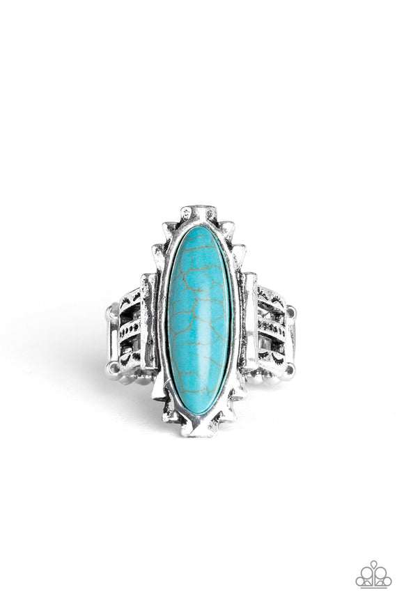 Canyon Colada Blue Ring - Paparazzi Accessories