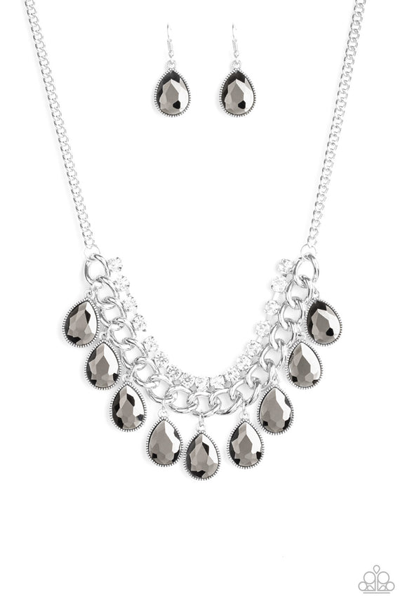 All Toget-HEIR Now Silver Necklace - Paparazzi Accessories - jazzy-jewels-gems