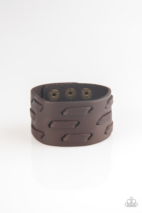 Be Your Own HUNTSMAN Brown Urban Bracelet - Paparazzi Accessories