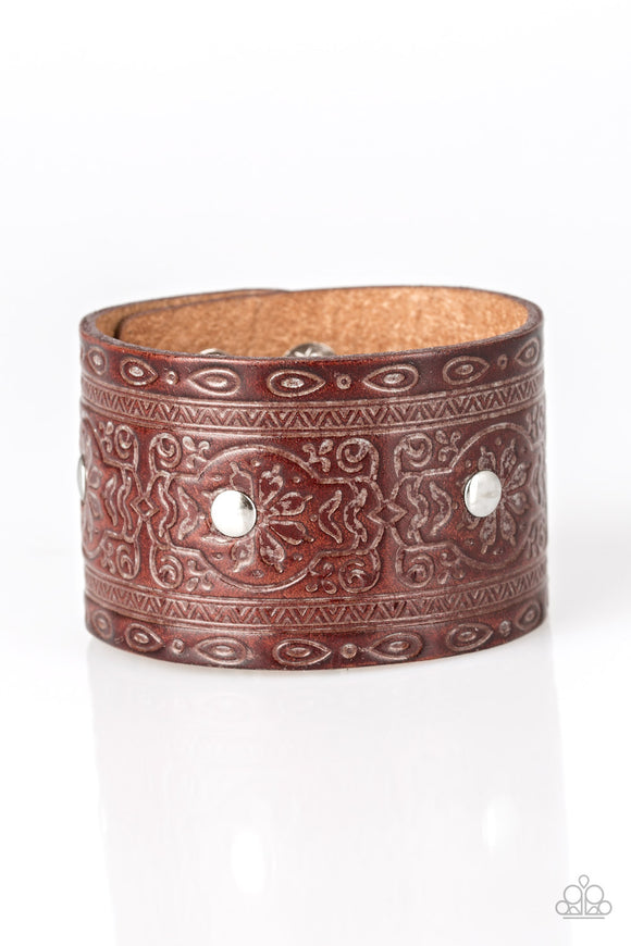 Boots and Broncos Brown Urban Bracelet - Paparazzi Accessories