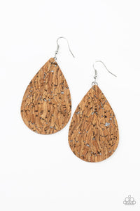 CORK It Over Silver Earring - Paparazzi Accessories
