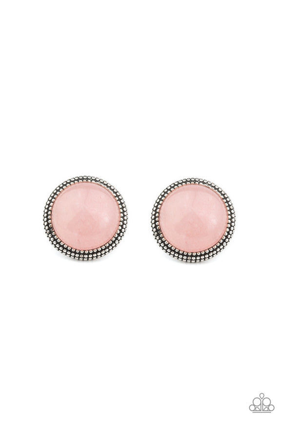 Desert Dew Pink Earring - Paparazzi Accessories