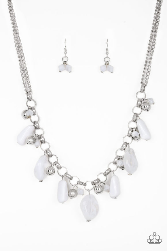 Grand Canyon Grotto White Necklace - Paparazzi Accessories