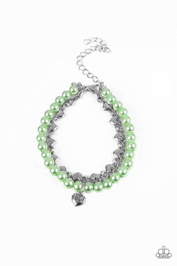 Love Like You Mean It Green Bracelet - Paparazzi Accessories - jazzy-jewels-gems