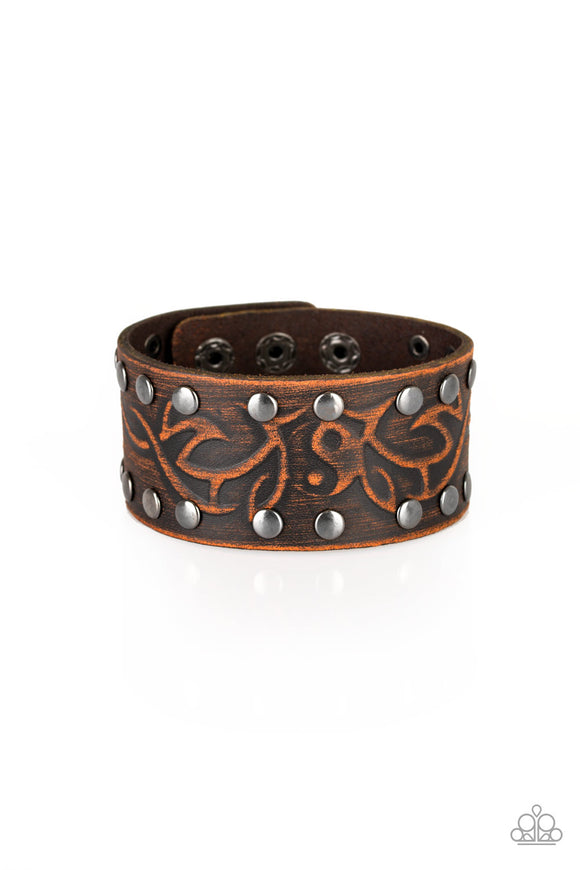 Nature Guide Brown Wrap Bracelet - Paparazzi Accessories
