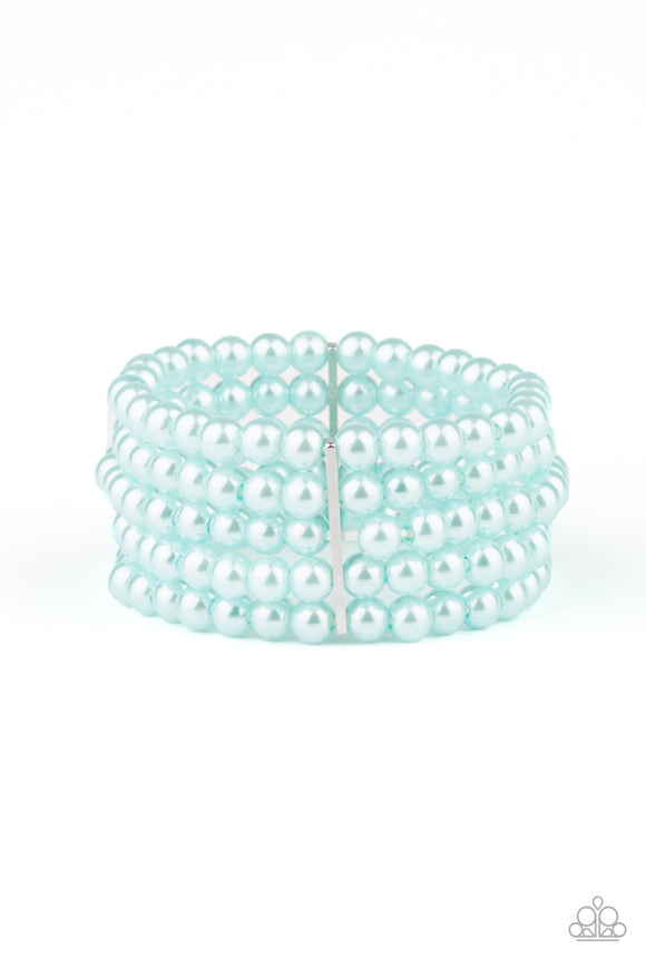 Pearl Bliss Blue Pearl Bracelet - Paparazzi Accessories