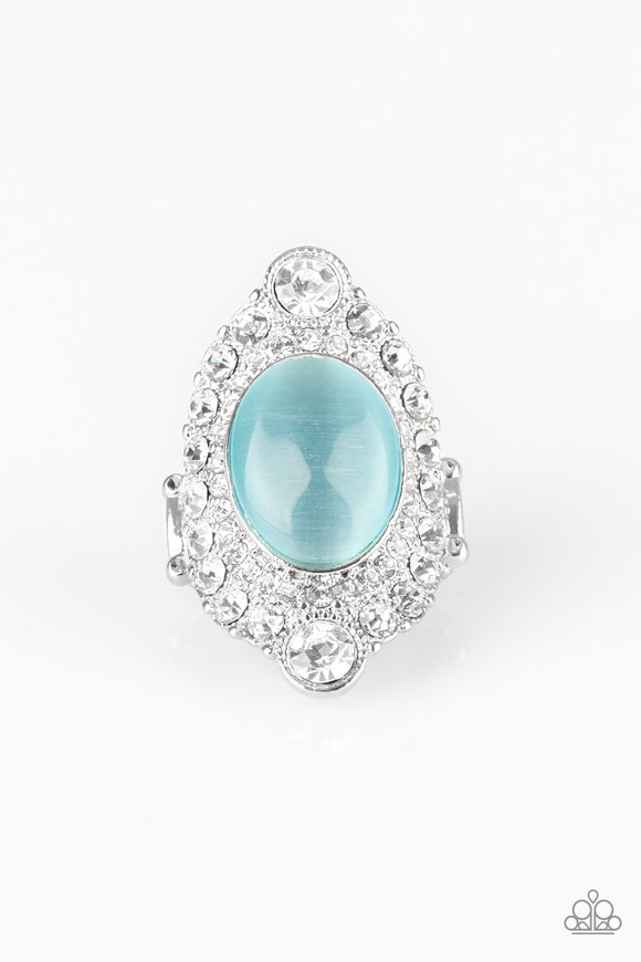 Riviera Royalty Blue Moonstone Ring - Paparazzi Accessories