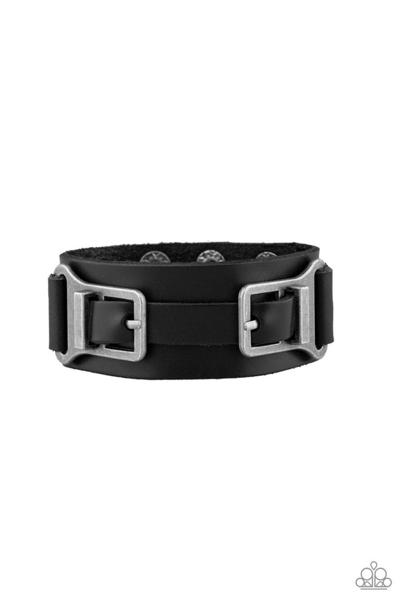 Scout It Out Black Urban Wrap Bracelet - Paparazzi Accessories