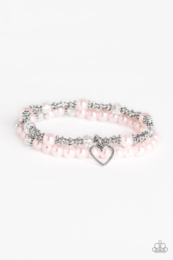 Sweetheart Splendor Pink Bracelet - Paparazzi Accessories
