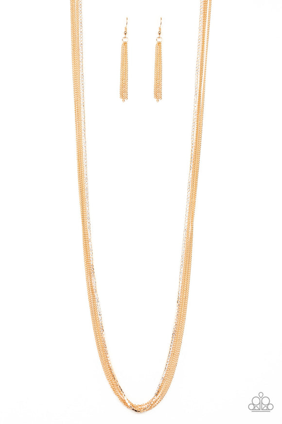 SLEEK and Destroy Gold Necklace - Paparazzi Accessories