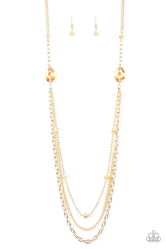 Dare To Dazzle Gold Necklace - Paparazzi Accessories