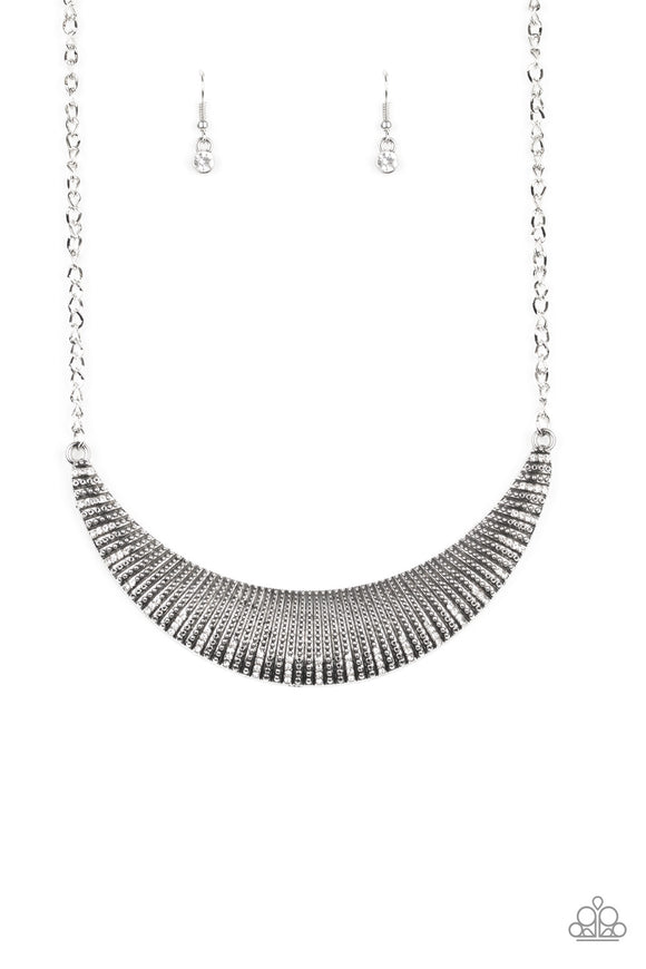 Modern Day Moonshine White Necklace - Paparazzi Accessories