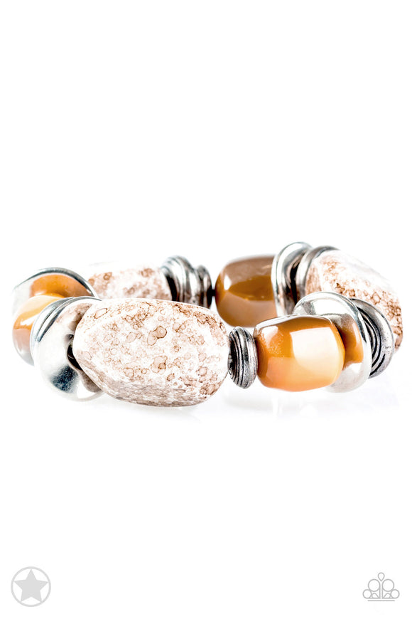 Glaze of Glory Peach Blockbuster Bracelet - Paparazzi Accessories - jazzy-jewels-gems