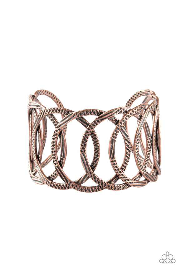 Circa de Contender Copper Bracelet - Paparazzi Accessories