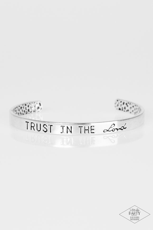 I Put My Trust In You Silver Cuff Bracelet - Paparazzi Accessories