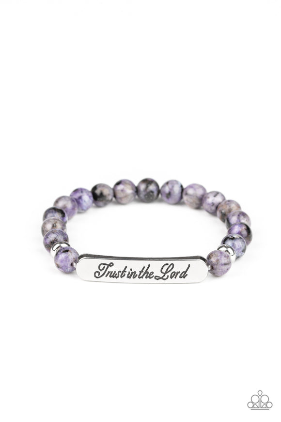 Keep The Trust Purple Bracelet - Paparazzi Accessories