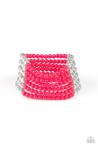 LAYER It On Thick Pink Bracelet - Paparazzi Accessories